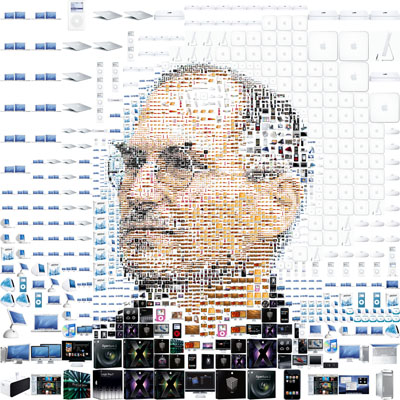 Steve Jobs made from Apple stuff